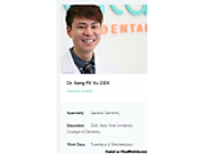 Schedule Appointment with Dr. Sang Pil Yu Dental Specialist