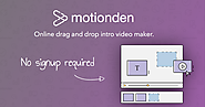 Free Online Animated Video Maker | MotionDen
