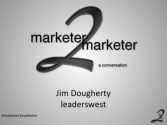 """a conversation"" with Jim Dougherty"