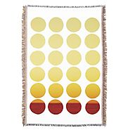 Summer Hand Drawn Polka Dots Throw Blanket