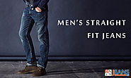 How modern men appear striking with straight fit jeans?