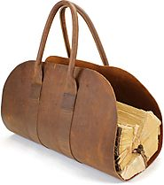 Where to buy Leather firewood carrier?