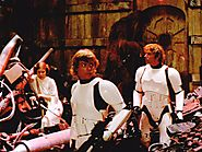 Trash compactor scene from Episode IV