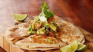 Vegetarian Quesadilla with avocado salsa