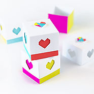 Color Blocked Printable Heart Boxes - Design Eat Repeat