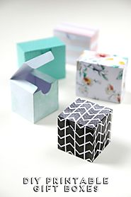 PRINTABLE DIY GIFT BOXES.
