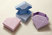 Free Printable - Origami Crystal Box + Tutorial - Paper Kawaii