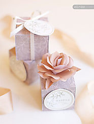 Free, Printable Boxes for Your Wedding Favors