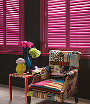 Painted Wooden Shutters at Creative Curtains & Blinds