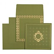 Green Islamic Wedding Cards | CI-1579 | IndianWeddingCards