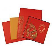 Radha Krishna Wedding Invitations | CW-1576 | IndianWeddingCards