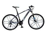 Cyrusher EB980 Blue Carbon Fiber Frame 17 X 26 In Man's Mountain Bike Shimano M370 27 Gears Hydraulic Disc Brake