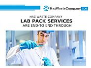 Haz Waste Company- Lab Pack Services are End-To End Through |authorSTREAM