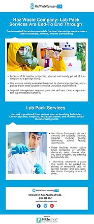 Haz Waste Company- Lab Pack Services Are End-To End Through | Piktochart Visual Editor