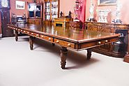 Antique Victorian 5 Metre Walnut Boardroom or Conference Table