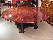 Stunning 7ft Diameter Flame Mahogany Jupe Dining Table