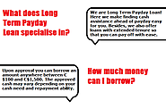 long term loans for low credit people