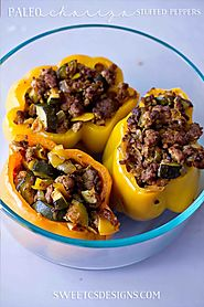 Paleo Chorizo Stuffed Peppers - Sweet C's Designs