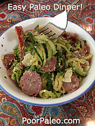 Paleo Zucchini Noodle and Sausage Spaghetti! - The Paleo Gypsy