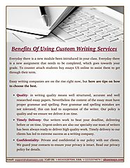 Choose The Best Custom Writing Services