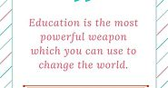 Education- A way to gain world peace