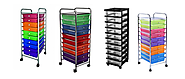 3-6-10-12 Drawer Rolling Carts for Storage and Organization