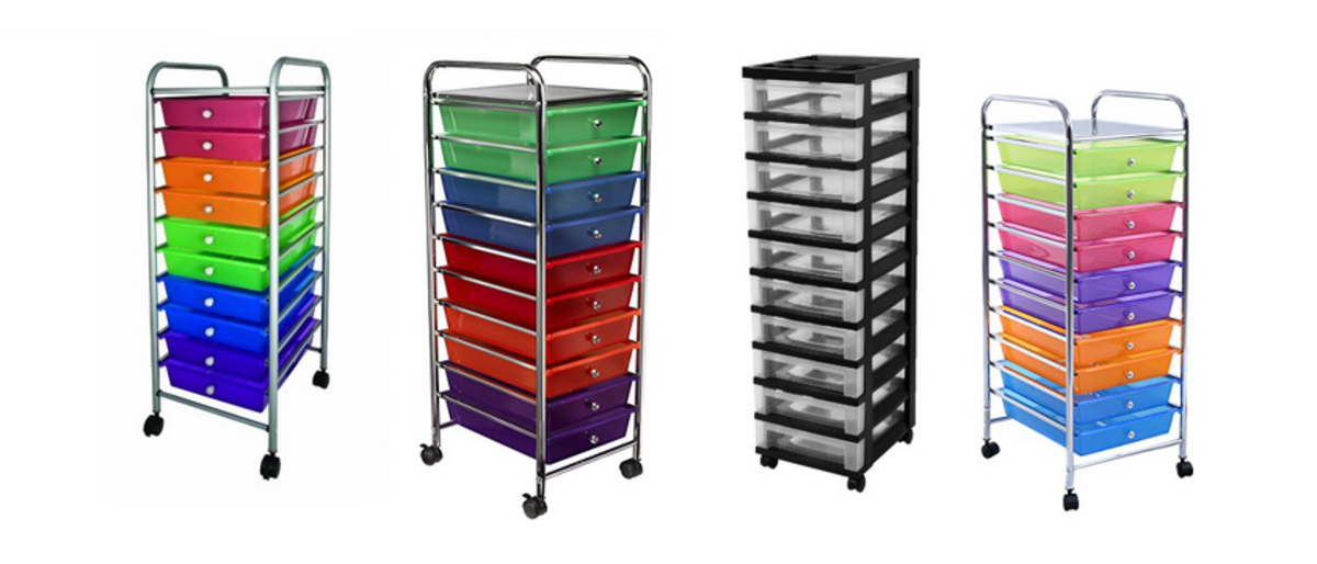 Headline for 3-6-10-12 Drawer Rolling Carts for Storage and Organization