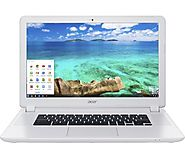 "Acer - 15.6"" Chromebook - Intel Celeron - 4GB Memory - 16GB Solid State Drive - Linen White"