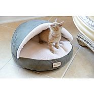 Armarkat Faux Suede Halo Cat Bed | Overstock.com