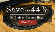 Save up to 44% on Braided Country Rugs