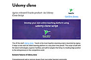 'Udemy clone script - Teachr' by kathreen | Readymag