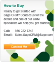 Sage CRM | Cloud and On-premise CRM Software