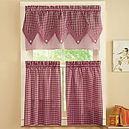 Add Country Styling to your Kitchen with Red and White Gingham Curtains