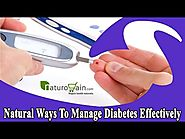Natural Ways To Manage Diabetes Effectively