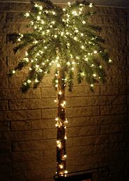 7' Foot Lighted Palm Tree - 300 Lights 78 Tips