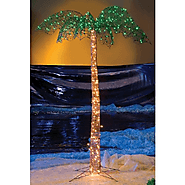 7 Foot Artificial Lighted Palm Tree