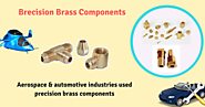 Metal stamping process is used to make precision brass components