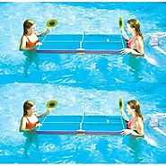 2 Swimline 9164 Swimming Pool Floating Ping Pong Table Tennis Game w/Paddles