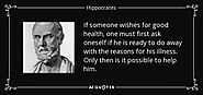 A Quote by Hippocrates about Discipline