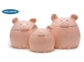 This Lil' Piggy Canister Set