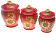 Certified International Sun Blossom Canister Set