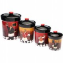 Certified International Bistro 4-Piece Canister Set