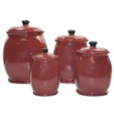 Hearthstone Chili Red 4-Piece Canister Set