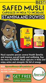 Best Safed Musli Capsules in India to Increase Stamina and Power