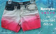 Restyle: Pink Ombre on Bleached Denim Shorts | Pearmama
