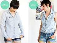 Refashion: DIY sleeveless blouse. | LOOK WHAT I MADE ...