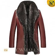 CWMALLS® 2in1 Sheepskin Raccoon Fur Coat CW855581