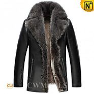 CWMALLS® 2in1 Shearling Coat with Fur CW857366
