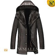 CWMALLS® Custom Hooded Fur Coat Embossed CW836057
