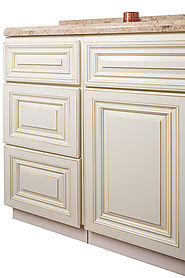 Antique White Bathroom Vanity at Summit Cabinets